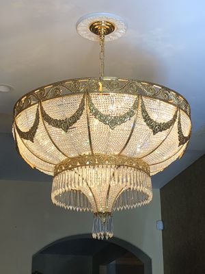 Gorgeous Gold plated chandelier for $ 700 for Sale in Los Angeles, CA