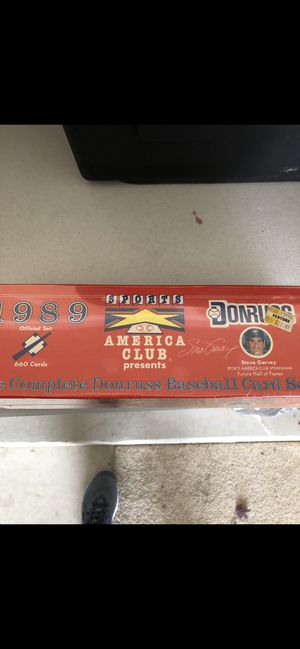 Unopened 1989 baseball cards set for Sale in Orland Park, IL