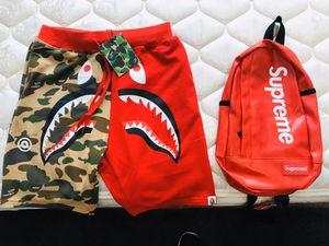 Bape shorts an supreme bag for Sale in Fresno, CA