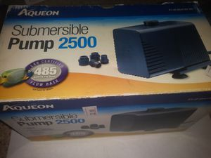 Aqueon 2500 submersible pump for Sale in Las Vegas, NV