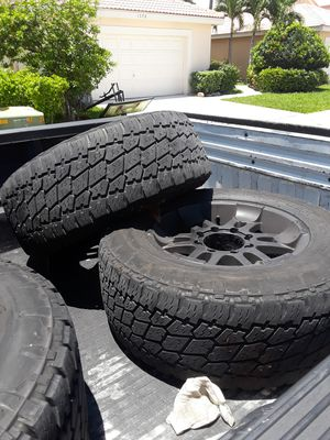 8x170 full set wheels with 2 nitto g2 for Sale in Pompano Beach, FL