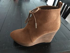 Women's Michael Kors Brown Wedge Booties Size 7M for Sale in San Diego, CA