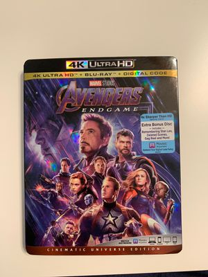 Avengers Endgame 4K Ultra HD + Blu-Ray for Sale in Midway City, CA