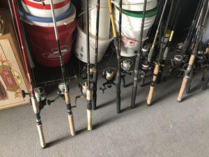 Fishing poles, bait buckets & an custom live bait well for Sale in Clearwater, FL