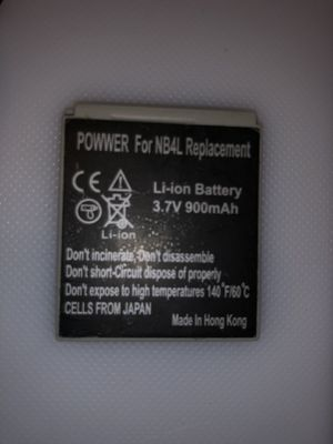 Lithium type batteries for canon nb4L replacement 3.7 v 900mh for Sale in Garden Grove, CA