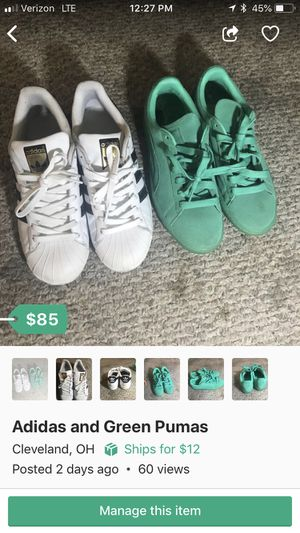 Adidas and Pumas for $85 ($85 for BOTH) for Sale in Cleveland, OH