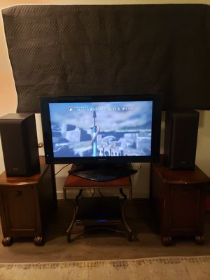 "Panasonic 42"" HD Plasma TV Monitor & Receiver w/ 8"" Sony Speaker System for Sale in Mesa, AZ"