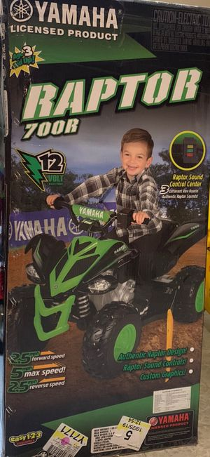 New Yamaha Raptor 4 Wheeler 12V ATV Motorcycle for Sale in Chicago, IL