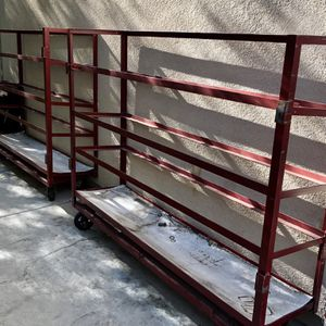 Industrial Metal Library Shelving On Wheels for Sale in Lake Elsinore, CA