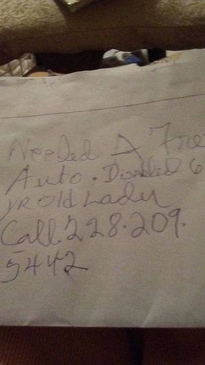 Dided a auto free 64 yr.old lady may god you for Sale in Biloxi, MS