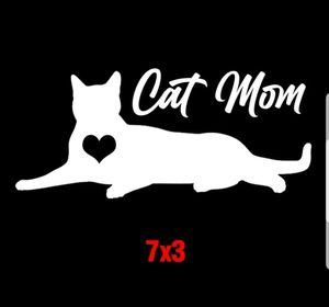 Cat Mom Vinyl Sticker Decal for Sale in Gulfport, FL