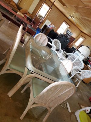 Beautiful glass table set for Sale in Julian, NC