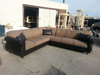 NEW 9X9FT CLYDE MOCHA FABRIC COMBO SECTIONAL COUCHES for Sale in City of Industry,  CA
