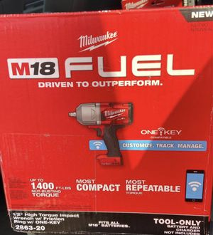 M18 1/2 high torque impact wrench w/one key for Sale in Las Vegas, NV