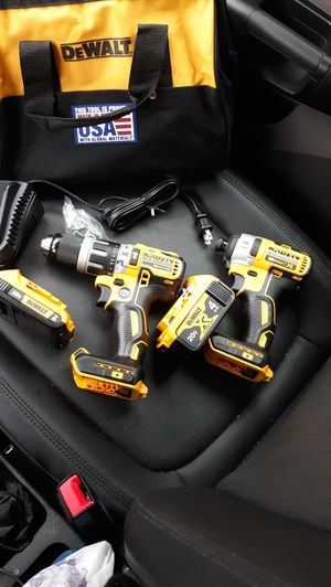 Dewalt power drills new never used with battery and charger BRUSHLESS motor XR for Sale in UPPR MARLBORO, MD