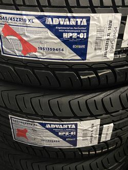 ADVANTA HPZ-01 245/45ZR19 $105 NEW 40K WARRANTY 245/45/19 ALL SEASON 245/45R/19 HIGH PERFORMANCE 245/45ZR/19 TIRES 245/45/19 for Sale in San Bernardino,  CA