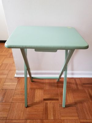 Green color folding wooden multi purpose table for Sale in Mundelein, IL