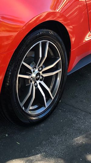 2016 Ford Mustang premium rims have 4 rims best offer for Sale in Fremont, CA