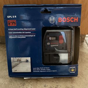 Bosch 5 Point Alignment Leveling Laser for Sale in Clovis, CA