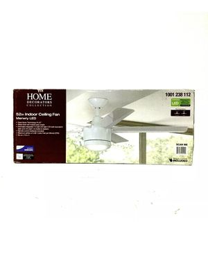 """Home Decorator Ceiling Fan Merwry Collection Integrated LED Indoor White, 52"""" for Sale in Tacoma, WA"""
