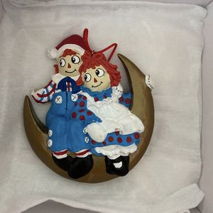 Antique Raraggedy Ann & Andy/moon By Simon Schuster 1997 ornament for Sale in San Jose, CA