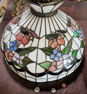 Tiffany chandelier, flower and bug, lamp shade for Sale in Torrance, CA