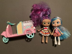 Shopkins shoppies dolls & scooter for Sale in Sacramento, CA
