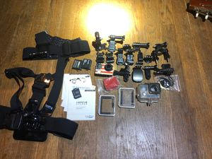 GoPro hero 4 silver with accessories for Sale in Foxborough, MA