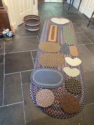 Large Assortment Country Braided Table Pads and Table Runners for Sale in Suffolk, VA