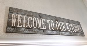 "Farmhouse Wall Decor - ""Welcome to our kitchen"" Sign for Sale in San Jose, CA"