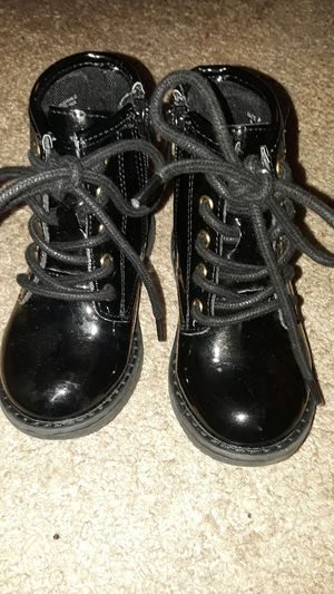 Toddler girl, size 6/ black combat boots for Sale in Columbia, IL
