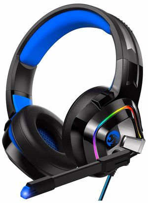 Gaming Headset PS4 Headset, Xbox One Headset with Noise Canceling Mic and Rgb Light, PC Headset with Stereo Surround Sound, Over-Ear Headphones for Sale in Huntington Beach, CA