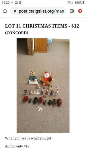 LOT # 11 CHRISTMAS ITEMS for Sale in Lynchburg, VA