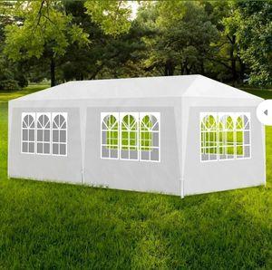 vidaXL Party Tent 10'x20' White Outdoor Garden Wedding Patio Gazebo Canopy for Sale in Turlock, CA