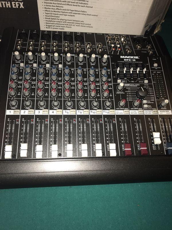 JBL EON G2 15 Speaker/Speaker Stands/Audio Technica Wireless Mic/Mackie Mixer DFX12