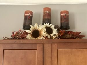 Decorative Sunflower Candle Holder with 3 Candles for Sale in Washington, DC