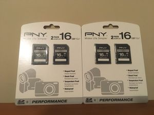 2 PNY: 16GB SD card for Sale in Providence, RI