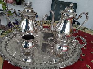 5 PIECE SILVER TEA COFFEE SET for Sale in Lehigh Acres, FL