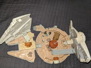 Star Wars Vintage Micromachines Action Figures and Millineum Falcon Ship for Sale in Beaverton, OR