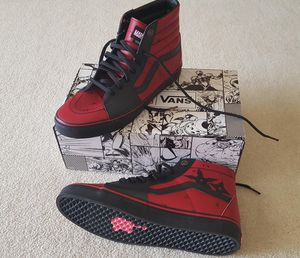 ***PRICE REDUCED***Sk8-Hi Deadpool Red and Black Shoes from Vans x Marvel. for Sale in NY, US