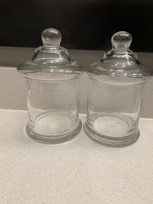 Two glass apothecary jars for Sale in Sunrise, FL