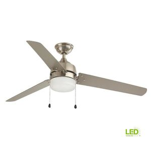 H.D.C. 60 in. LED Indoor/Outdoor Nickel Ceiling Fan with Light for Sale in Dallas, TX