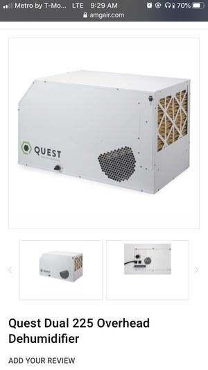 Quest dehumidifier dual 225 Best offer for Sale in Garden Grove, CA
