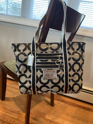 Black Coach Tote Bag, signature C for Sale in New Haven, CT