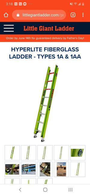 54 foot fiberglass ladder for Sale in Columbia, SC