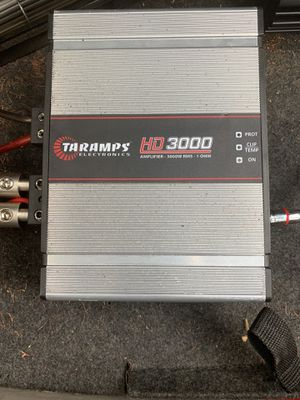 Taramps HD3000.1 1ohm stable amp/3000w rms for Sale in Lithia Springs, GA