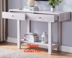 NEW IN THE BOX. CONSOLE TABLE, WHITE OAK, SKU# TC182320T for Sale in Westminster, CA
