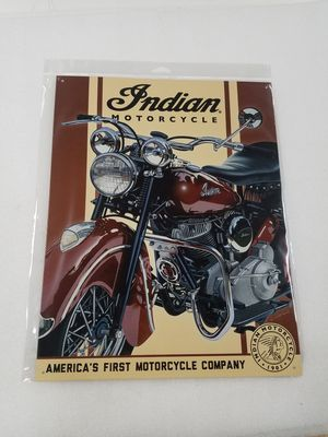 Indian motorcycle bike metal sign for Sale in Vancouver, WA