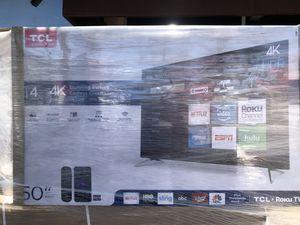 TCL Roku 50 inch 4K smart TV with Warranty for Sale in Altadena, CA