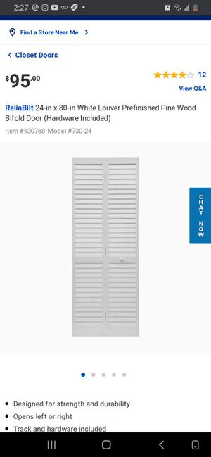 "New 24"" x 80"" Prefinished Wooden Bifold Door for Sale in Norwalk, CA"